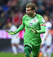 FUSSBALL  1. BUNDESLIGA  SAISON 2015/2016  24. SPIELTAG FC Bayern Muenchen - 1. FSV Mainz 05       02.03.2016 Torwart Loris Karius (1. FSV Mainz 05)