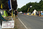 Balcombe West Sussex UK. Fracking protest camp. The camp site is situated along London Road the B2036.