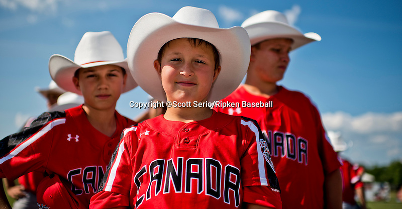 July 24, 2015 : Scenes from Opening Ceremonies for the Cal Ripken World Series at the Ripken Experience powered by Under Armour in Aberdeen, Maryland. Scott Serio/Ripken Baseball/CSM
