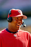 5 September 2005: Livan Hernandez, All-Star pitcher for the Washington Nationals, during a television interview following a game against the Florida Marlins. The Nationals defeated the Marlins 5-2 at RFK Stadium in Washington, DC, maintaining a close race for the NL Wildcard spot. Mandatory Photo Credit: Ed Wolfstein.
