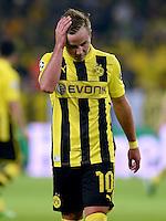 FUSSBALL  CHAMPIONS LEAGUE  HALBFINALE  HINSPIEL  2012/2013      Borussia Dortmund - Real Madrid              24.04.2013 Mario Goetze (Borussia Dortmund) enttaeuscht