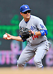 5 September 2011: Los Angeles Dodgers infielder Jamey Carroll in action against the Washington Nationals at Nationals Park in Los Angeles, District of Columbia. The Nationals defeated the Dodgers 7-2 in the first game of their 4-game series. Mandatory Credit: Ed Wolfstein Photo