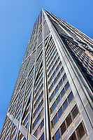 Looking up the impressive structure of the John Hancock Center