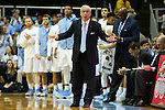 28 December 2015: UNC head coach Roy Williams. The University of North Carolina Tar Heels hosted the UNC Greensboro Spartans at the Dean E. Smith Center in Chapel Hill, North Carolina in a 2015-16 NCAA Division I Men's Basketball game. UNC won the game 96-63.