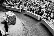 04 Dec 1972, Manhattan, New York City, New York State, USA --- The Chilian President Salvador Allende being applauded after his speech at the United Nations general assembly. --- Image by © JP Laffont
