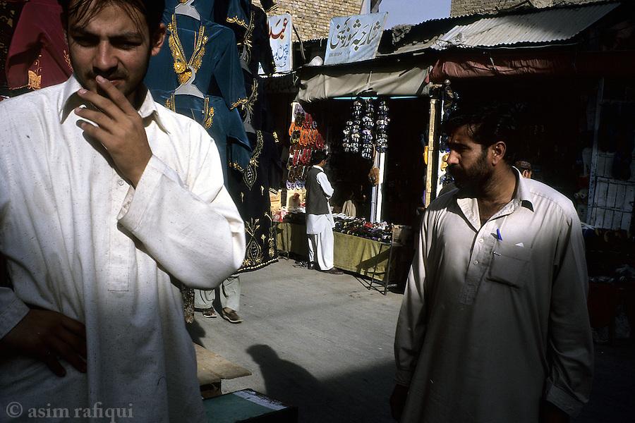 Street scene in a market in quetta, pakistan.