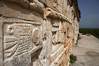 Quetzal bird, The Grand Pyramid or Great Temple, commonly the Great pyramid, 8th century, reconstructed 1972-3, Puuc architecture, Uxmal late classical Mayan site, flourished between 600-900 AD, Yucatan, Mexico. Picture by Manuel Cohen