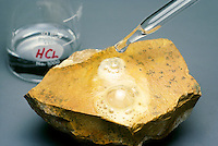 CALCITE REACTING WITH A WEAK ACID (CC)<br />