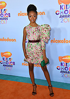 Actress Skai Jackson at the Nickelodeon 2017 Kids' Choice Awards at the USC's Galen Centre, Los Angeles, USA 11 March  2017<br /> Picture: Paul Smith/Featureflash/SilverHub 0208 004 5359 sales@silverhubmedia.com