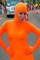 LA Pride 2011 Female, Participant, Orange, Color, Costume