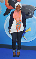 Nadiya Hussain at the &quot;Finding Dory&quot; UK film premiere, Odeon Leicester Square cinema, Leicester Square, London, England, UK, on Sunday 10 July 2016.<br /> CAP/CAN<br /> &copy;CAN/Capital Pictures ***USA and South America Only**