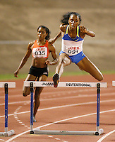 Lashinda Demus winning the women's 400m hurdles in a time of 54.83sec. at the Jamaica International Invitational Meet on Saturday, May 3rd. 2008. Photo by Errol Anderson,The Sporting Image.