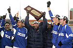 3 December 2006: UCSB players carry the NCAA Championship Trophy to their fans after the postgame presentation. California-Santa Barbara defeated California-Los Angeles 2-1 at Robert R. Hermann Stadium in St. Louis, Missouri in the NCAA men's college soccer tournament final game to win the 2006 NCAA Championship.