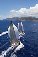 ANTIGUA, 18th April 2009, Antigua Classic Week, Race 2, Ranger (J5) and Velsheda (K7)