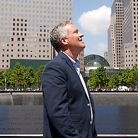 HSUL 20140530 United States, New York. Visitors at the 9/11 Memorial. Martin Burke. Photographer: David Brabyn