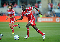 Chicago midfielder Dominic Oduro (8) drives toward the Toronto goal.  The Chicago Fire defeated Toronto FC 2-0 at Toyota Park in Bridgeview, IL on August 21, 2011.