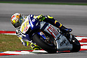 February 4, 2010 - Kuala Lampur, Malaysia - Italian rider Valentino Rossi (Fiat Yamaha Team) powers his bike for testing on Sepang International Circuit on February 4, 2010. (Photo Andrew Northcott/Nippon News)