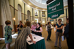 Members of the financial aid department answer participant's questions at Wednesday's Ohio Gaurantee event that took place in Walter Hall Rotunda. Photo by Katelyn Vancouver