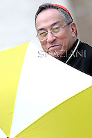 Cardinal Oscar Andrés Rodríguez Maradiaga.president Caritas Internationalis.Pope Benedict XVI during his weekly general audience in St. Peter square at the Vatican, Wednesday. 16, May 2012