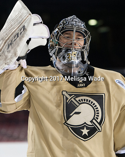 Parker Gahagen (Army - 35) - The Bentley University Falcons defeated the Army West Point Black Knights 3-1 (EN) on Thursday, January 5, 2017, at Fenway Park in Boston, Massachusetts.The Bentley University Falcons defeated the Army West Point Black Knights 3-1 (EN) on Thursday, January 5, 2017, at Fenway Park in Boston, Massachusetts.