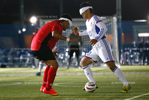 Hiroshi Ochiai (JPN), NOVEMBER 18, 2014 - Football 5-a-sider : IBSA Blind Football World Championships 2014 Group A match between Japan 0-0 Morocco at National Yoyogi Stadium Futsal Court, Tokyo, Japan. [1180]