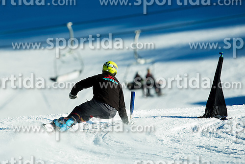Snowboarder during training of Snowboarding Team Slovenia prior to the 2015 FIS Freestyle Ski and Snowboard World Championships in Kreischberg (AUT) on January 13, 2015 in Rogla, Slovenia. Photo by Vid Ponikvar / Sportida