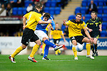 St Johnstone v Livingston...24.08.11   Scottish Communities League Cup Round 2.Francisco Sandaza scores his first goal.Picture by Graeme Hart..Copyright Perthshire Picture Agency.Tel: 01738 623350  Mobile: 07990 594431