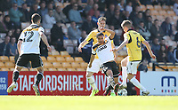 Port Vale's Jerome Thomas battles with Bolton Wanderers' Dorian Dervite (left) and Josh Vela<br /> <br /> Photographer Stephen White/CameraSport<br /> <br /> The EFL Sky Bet League One - Port Vale v Bolton Wanderers  - Saturday 22nd April 2017 - Vale Park - Burslem<br /> <br /> World Copyright &copy; 2017 CameraSport. All rights reserved. 43 Linden Ave. Countesthorpe. Leicester. England. LE8 5PG - Tel: +44 (0) 116 277 4147 - admin@camerasport.com - www.camerasport.com