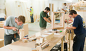 The carpentry workshop.  Able Skills in Dartford, Kent, runs courses in construction industry skills like, bricklaying, carpentry and tiling.