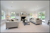 BNPS.co.uk (01202 558833)<br /> Pic: KnightFrank/BNPS<br /> <br /> ***Please use full byline***<br /> <br /> Abbotts Wood near Taplow, Bucks., a Palladian style house set in 56 acres on the market for &pound;7.5m.<br /> <br /> To the Manor Reborn...<br /> <br /> Britain's super rich are turning their backs on the decaying stately piles beloved by the aristocracy and building brand new modern mansions on their country estates.<br /> <br /> Rather than investing in the leaky roofs and draughty windows of days gone by, modern millionaires are choosing to build plush pads from the ground up.<br /> <br /> And they are filling their dream homes with every conceivable luxury without the need for a bottomless sink fund to pay for the costly upkeep of older houses.<br /> <br /> Estate agents specialising in top-end properties have reported a clear swing from grand Victorian manor houses to state of the art modern homes kitted out with all the mod cons.<br /> <br /> The multi-million pounds properties have been popping up across the country over the past few years - and are now being heralded as the stately homes of the future.