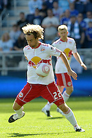 Red Bulls defender Stephen Keel (22) in action...Sporting Kansas City defeated New York Red Bulls 2-0 at LIVESTRONG Sporting Park, Kansas City, Kansas.
