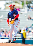 5 March 2010: Washington Nationals' pitcher Miguel Batista in action during a Spring Training game against the Atlanta Braves at Champion Stadium in the ESPN Wide World of Sports Complex in Orlando, Florida. The Braves defeated the Nationals 11-8 in Grapefruit League action. Mandatory Credit: Ed Wolfstein Photo
