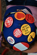 "June 1972, Dallas, Texas, USA. Accesories with a religious message that the crowd wore during  Explo '72, an evangelical conference sponsored by Campus Crusade for Christ, which was described as ""a religious Woodstock""."