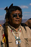 Hualapai Indian man, Grand Canyon, Arizona, AZ, face, Native American, Portrait, vertical, no model release, Image nv472-8804.Photo copyright: Lee Foster, www.fostertravel.com, lee@fostertravel.com, 510-549-2202