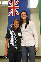 STANFORD, CA - OCTOBER 10:  Ali Riley and Jillian Harmon, members of the New Zealand national team, during a VIP reception for the 2008 Beijing Olympians on October 10, 2008 at the Arrillaga Family Sports Center in Stanford, California.