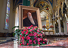 October 13, 2016; Portrait of the University's founder, Rev. Edward F. Sorin, C.S.C., in the Basilica of the Sacred Heart. (Photo by Barbara Johnston/University of Notre Dame)