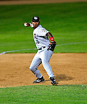22 June 2009: Tri-City ValleyCats' third baseman Jhonny Medrano in action against the Vermont Lake Monsters at Historic Centennial Field in Burlington, Vermont. The Lake Monsters defeated the visiting ValleyCats 5-4 in extra innings. Mandatory Photo Credit: Ed Wolfstein Photo