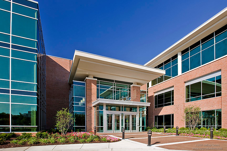 Maryland Commercial Photographer Jeffrey Sauers Image of Timonium Building Schilling Green by Commercial Photographics
