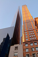 Carnegie Hall Tower Arcihitect,  Cesar Pelli and Metropolitan Tower Architect: Schuman, Lichtenstein, Claman &amp; Efron and Russian tea room, West 57th Street NYC, New York, postmodern