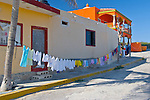 Clothes drying in the sea breeze. Isla Mujeras, Mexico