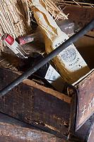 France/DOM/Martinique/Sainte-Marie: Rhumerie Saint-James AOC Rhum de la Martinique _ Vieux millésimes de Rhum dans la cave de la distillerie