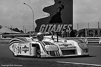 LE MANS, FRANCE: Hans Heyer, Riccardo Patrese and Piercarlo Ghinzani completed the most laps in the Group 6 category driving their Lancia Martini LC1 001003 in the 24 Hours of Le Mans on June 20, 1982, at Circuit de la Sarthe in Le Mans, France.