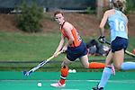 12 September 2014: Syracuse's Emma Russell (IRL) (12). The University of North Carolina Tar Heels hosted the Syracuse University Orange at Francis E. Henry Stadium in Chapel Hill, North Carolina in a 2014 NCAA Division I Field Hockey match. UNC won the game 3-0.