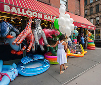 A store selling balloons and other inflatables in the Tribeca neighborhood of New York on Friday, July 29, 2016. (© Richard B. Levine)