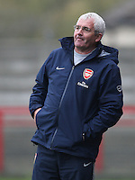 Arsenal manager Tony Gervaise - Arsenal Ladies vs Sparta Prague - UEFA Women's Champions League at Boreham Wood FC - 11/11/09 - MANDATORY CREDIT: Gavin Ellis/TGSPHOTO - Self billing applies where appropriate - Tel: 0845 094 6026