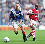 Trevor Steven and Ian Wright, Rangers v Arsenal August 1996