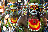 Male performers, Morobe Singsing dance festival, Papua New Guinea