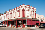 Historic buildings, downtown, Mariposa; California, USA.  Photo copyright Lee Foster.  Photo # california121545