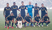 CARSON, CA - July 21, 2012: LA Galaxy starting lineup for the LA Galaxy vs Chivas USA match at the Home Depot Center in Carson, California. Final score LA Galaxy 3, Chivas USA 1.