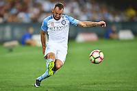 Melbourne, 6 January 2017 - IVAN FRANJIC (5) of Melbourne City kicks the ball in the round 14 match of the A-League between Melbourne City and Western Sydney Wanderers at AAMI Park, Melbourne, Australia. Melbourne won 1-0 (Photo Sydney Low / sydlow.com)